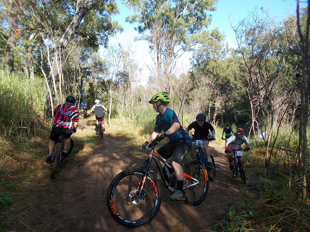 2018 Tuckers Cycle Inn - CQ XC Round 1 - Sharp right off Zaras Crossing then a climb up Jackhammmer