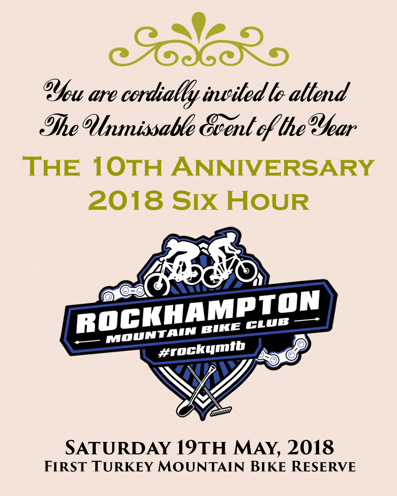 10th Anniversary 2018 Six Hour XC poster