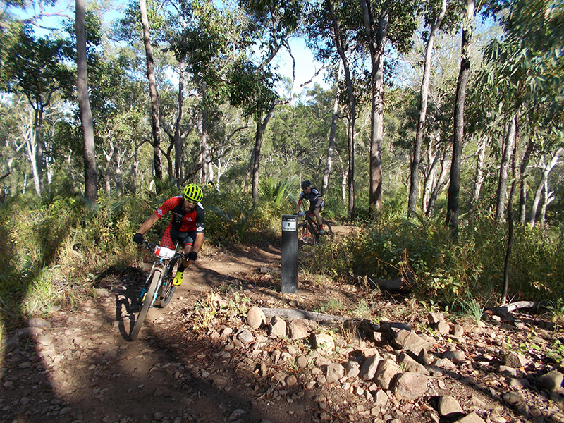 Horseshoe MTB trail at First Turkey, Rockhampton