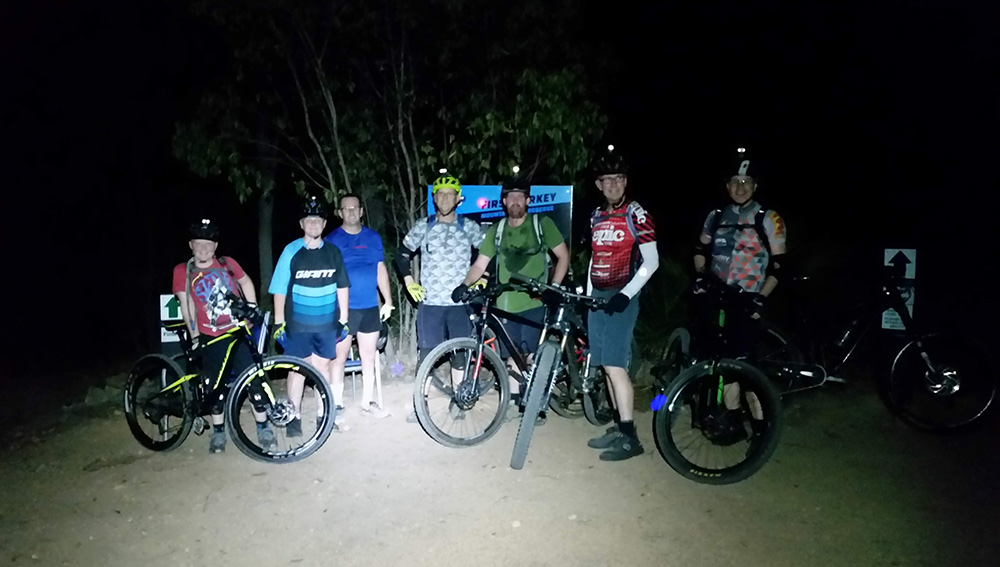 Rocky MTB Turkey Roll night social ride